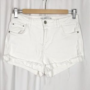 Zara Trafaluc White Denim Shorts